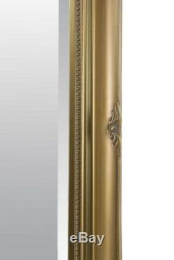 Large Wall Mirror Full Length Antique Styled Gold 5Ft7 X 2Ft7 170cm X 79cm