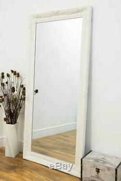 Large Wall Mirror Vintage Full Length Ornate Styled White 5Ft7 X 2Ft7 170 X 79cm