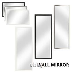 Large Wall Mountable Wall Hanging Mirror Rectangle Leaner Full Length Hallway