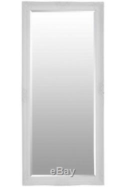 Large White Bevelled Full Length Dressing Wall Mirror 5Ft6 X 2Ft6 168cmX76cm