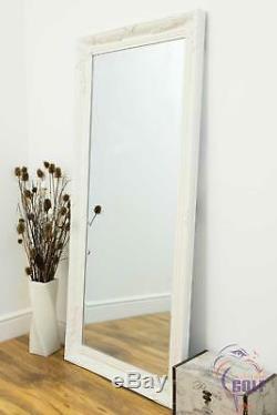Large White Leaner Full Length Wall Mirror 5ft7 x 2ftt7 (170cm x 79cm)
