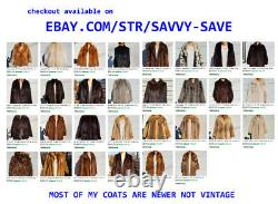Large XL 46 Chest SILVER FOX Black Gray Brown Full Length Long Fox Fur Coat