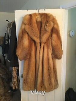 Luxurious Vintage Red Fox Fur Full Length Coat, Amazing