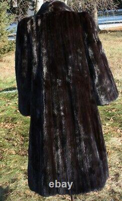 MINK Full Length Mahogany Mink Fur Coat