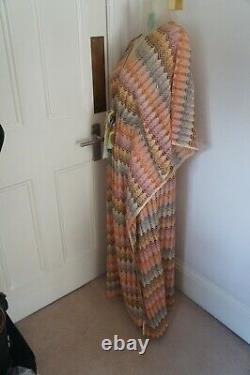 MISSONI Mare Long Beach dress size L UK 12 IT 44