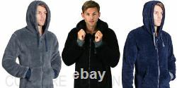 Mens Onezee Snuggle Zip Up All-In-One Super Soft Fleece Hooded Jumpsuit 1Onezsie
