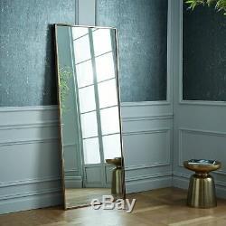 Metal Frame 72 Floor Mirror 183cm Large Modern Wall Leaner Full Length
