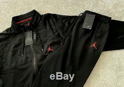 NEW Mens Nike Air Jordan Wings Tracksuit SET MJ 23 Jacket & Bottoms TRIPLE BLACK