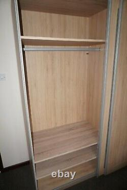 NEXT 2M Sliding Door Wardrobe Oak Large Mirror