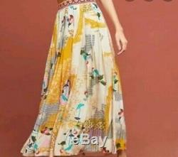 NWT Anthropologie Bhanuni Mischa Maxi Skirt Floral Gorgeous large
