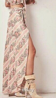 NWT! Loveshackfancy Jolene Wrap Skirt Size L