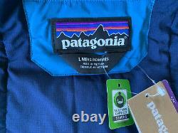 NWT Men's Patagonia Stretch Nano Storm Jacket Balkan Blue Insulated Waterproof L