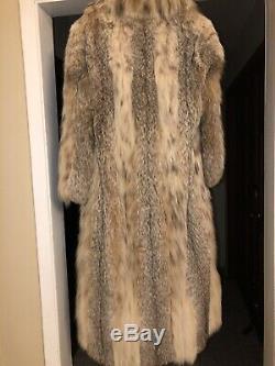 Natural Canadian LYNX Full Length I MAGNIN Fur Coat Gorgeous! RARE