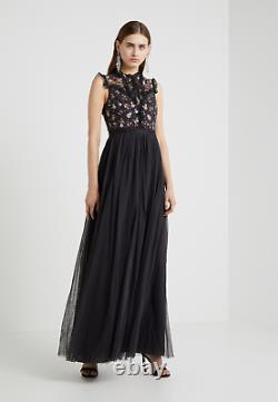 New Needle & Thread Halley maxi dress in graphite Uk 12 L 40