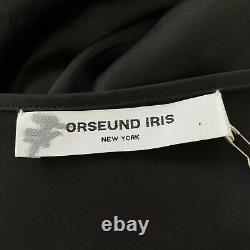 Orseund Iris Ballerina Maxi Wrap Skirt Black Womens Large L NWT $445