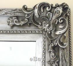 PARIS Ornate Extra-large French Full Length Wall Leaner Mirror SILVER 45' x 69'