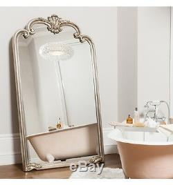 Palazzo Ornate X Large Silver Full Length Wall Leaner Floor Mirror 73 x 41