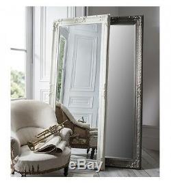 Pembridge Large Antique Matt Cream Full Length Leaner Wall Floor Mirror 75x32