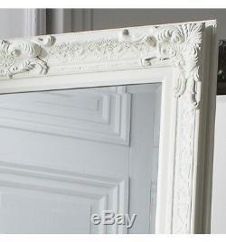 Pembridge Large Full Length Antique Matt Cream Leaner Wall Floor Mirror 75x32