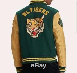 Polo Ralph Lauren Stadium P-Wing Varsity Bomber RRL NY Tigers Letterman Jacket