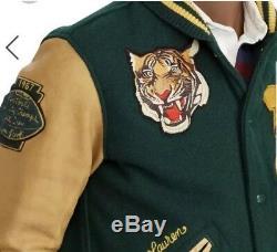 Polo Ralph Lauren Stadium P-Wing Varsity Bomber RRL NY Tigers Letterman Jacket L