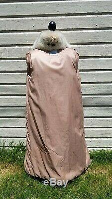 RARE! Medium Large 38 Chest Long Full Length SAGA Spotted Fox Fur Coat Jacket