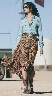RARE Spell & The Gypsy Saphari Kerchief Maxi Skirt Vintage 2013 Sz L LargeVEUC