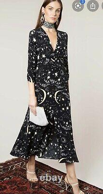 RIXO Moonlit Sky Print Katie Dress Large Perfect Condition RRP £275