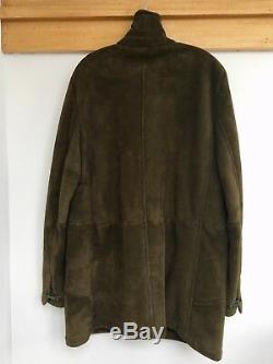 Rare Beautiful Kiton Napoli Italy Full Length Merino Shearling Coat Mens L New