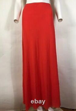 Rare Vtg Jean Paul Gaultier Orange Mesh Maxi Skirt L