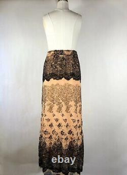 Rare Vtg Jean Paul Gaultier Velvet Maxi Skirt L