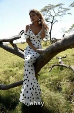 Rat And Boa Antonia Polka Fot Maxi Dress Size L BNWT