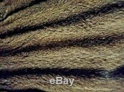 Real Arctic Fox Fur Coat/ Full Length/ US Size 10/12/14