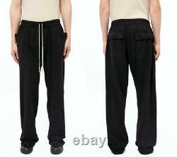 Rick Owens DRKSHDW MT Drawstring Long Pants Black Full Length Men's L From Japan