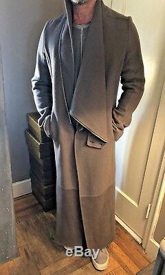 Rick Owens Unisex, Cashmere Full Length Coat. Runway Piece $4000