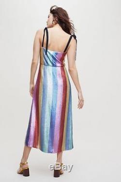 Rixo London Tessa Sequin Dress Size L. New