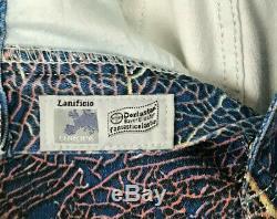 Roberto Cavalli Signed Authentic Womens Floral Stretch Jeans Denim Bootcut Sz L