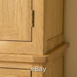 Roseland Oak Triple Wardrobe / Wardrobe With Mirror / Handcrafted Large Wardrobe