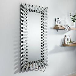 STARBURST Large Full Length Floor Wall Rectangular Living Hallway Bedroom Mirror