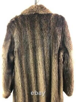 Salon Collection Canada Full Length Longhaired Mahogany Brown Beaver Fur Coat
