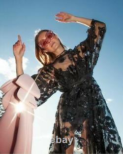 Simone Rocha X H&M HM Wide Tinsel-Patterned Tulle Dress Black XS S M L New