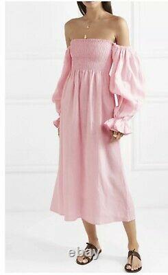 Sleeper Atlanta Pink Linen Dress. Size Large