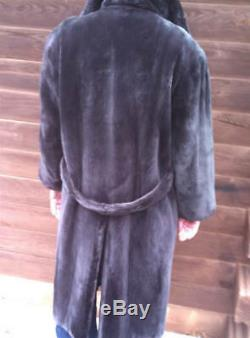 Snug & Soft Mens / Unisex Large Real Sheared Beaver Fur Coat / Jacket
