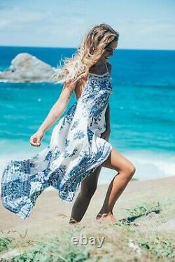 Spell and Gypsy Collective Hotel Paradiso Bluebird strappy dress in size L