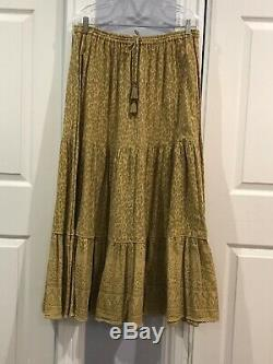 Spell and the gypsy collective Wild Thing Maxi Skirt Mustard Large NWT