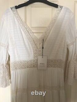 Spell x Tuula Senorita Gown Maxi Dress Size L 10 12 BNWT Lace Boho Gypsy