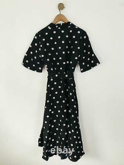Stine Goya Women's Floral Wrap Maxi Dress L UK14 Black