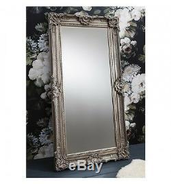 Stretton Large Silver Shabby Chic Full Length Leaner floor Mirror 177 x 88cm