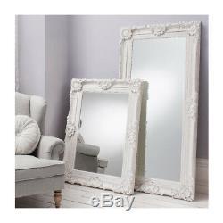 Stretton Large White Boudoir Shabby Chic Full Length Leaner floor Mirror 70x35