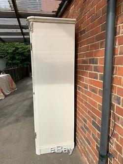 Stunning Large French Armoire Ivory 3 Door Wardrobe Shabby Chic